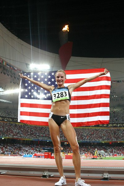 Shalane-Flanagan-after-getting-a-bronze-medal-and-American-record-at-the-2008-Bejing-Olympics